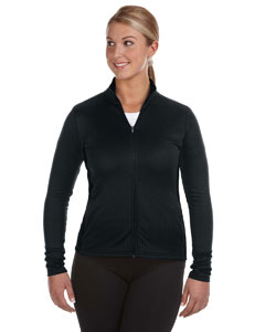 Black/black Ladies' 5.4 oz. Performance Colorblock Full-Zip Jacket