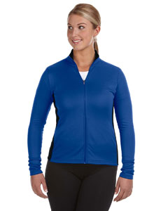 Ath Royal/black Ladies' 5.4 oz. Performance Colorblock Full-Zip Jacket