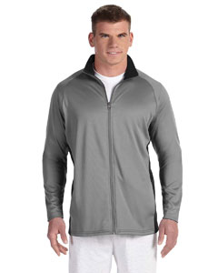 Stone Gray/blk 5.4 oz. Performance Colorblock Full-Zip Jacket