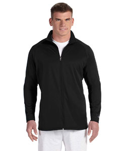 Black/black 5.4 oz. Performance Colorblock Full-Zip Jacket