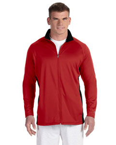 Scarlet/black 5.4 oz. Performance Colorblock Full-Zip Jacket