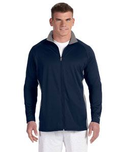 Navy/stone Gray 5.4 oz. Performance Colorblock Full-Zip Jacket