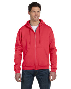 Scarlet Heather Eco® 9 oz., 50/50 Full-Zip Hood