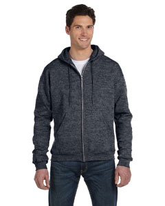 Charcoal Heather Eco® 9 oz., 50/50 Full-Zip Hood