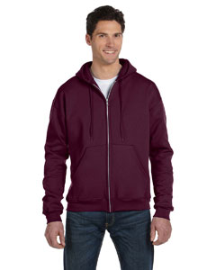 Maroon Eco® 9 oz., 50/50 Full-Zip Hood