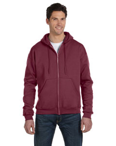 Maroon Heather Eco® 9 oz., 50/50 Full-Zip Hood