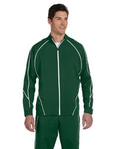 Dark Green/white Team Prestige Full-Zip Jacket