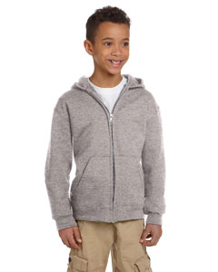 Light Steel Youth Eco® 9 oz., 50/50 Full-Zip Hood