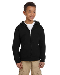 Black Youth Eco® 9 oz., 50/50 Full-Zip Hood