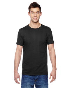 Black 4.7 oz., 100% Sofspun™ Cotton Jersey Crew T-Shirt