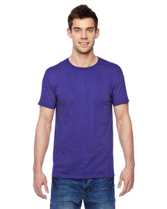 Purple 4.7 oz., 100% Sofspun™ Cotton Jersey Crew T-Shirt