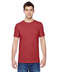 Brick Heather 4.7 oz., 100% Sofspun™ Cotton Jersey Crew T-Shirt