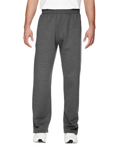Charcoal Heather 7.2 oz. Sofspun™ Open-Bottom Pocket Sweatpants
