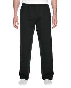Black 7.2 oz. Sofspun™ Open-Bottom Pocket Sweatpants