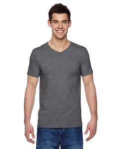 Charcoal Grey 4.7 oz., 100% Sofspun™ Cotton Jersey V-Neck T-Shirt