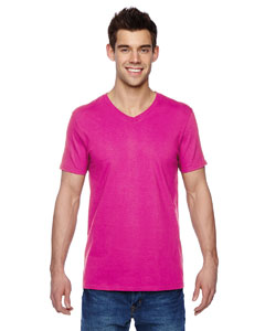 Cyber Pink 4.7 oz., 100% Sofspun™ Cotton Jersey V-Neck T-Shirt