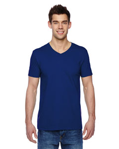 Admiral Blue 4.7 oz., 100% Sofspun™ Cotton Jersey V-Neck T-Shirt