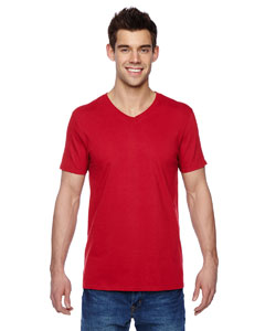 Fiery Red 4.7 oz., 100% Sofspun™ Cotton Jersey V-Neck T-Shirt
