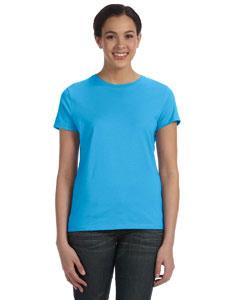 Aquatic Blue Women's 4.5 oz., 100% Ringspun Cotton nano®-T T-Shirt