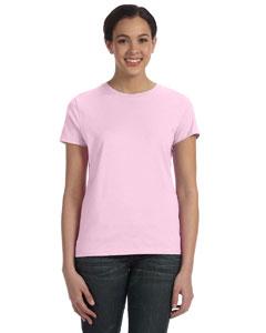 Pale Pink Women's 4.5 oz., 100% Ringspun Cotton nano®-T T-Shirt