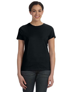 Black Women's 4.5 oz., 100% Ringspun Cotton nano®-T T-Shirt