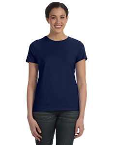 Navy Women's 4.5 oz., 100% Ringspun Cotton nano®-T T-Shirt