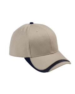 Khaki/navy Sport Wave Baseball Cap