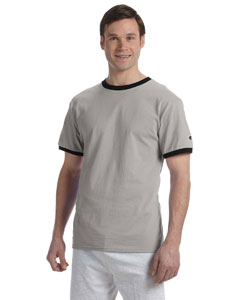 Oxford Gry/black 5.2 oz. Tagless Ringer T-Shirt