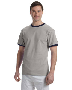 Oxf Gry/navy 5.2 oz. Tagless Ringer T-Shirt