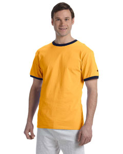 C Gold/navy 5.2 oz. Tagless Ringer T-Shirt