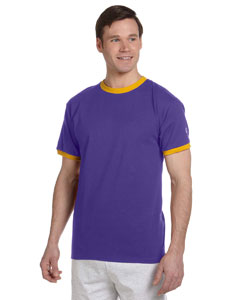 Purple/c Gold 5.2 oz. Tagless Ringer T-Shirt