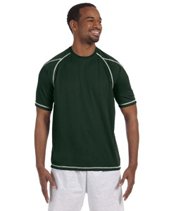 Athletic Dark Green 4.1 oz. Double Dry® T-Shirt with Odor Resistance