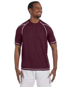 Maroon 4.1 oz. Double Dry® T-Shirt with Odor Resistance