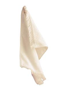 Vanilla Fringed Fingertip Towel