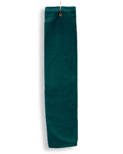 Hunter Deluxe Tri-Fold Hemmed Hand Towel With Center Grommet and Hook
