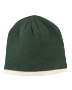 Forest/cream Knit Cap