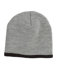 Grey/black Knit Cap