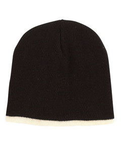 Black/cream Knit Cap