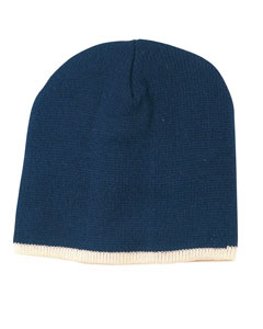 Navy/cream Knit Cap
