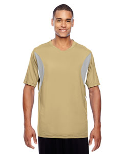 Sport Vegas Gold Men's Short-Sleeve Athletic V-Neck All Sport Jersey