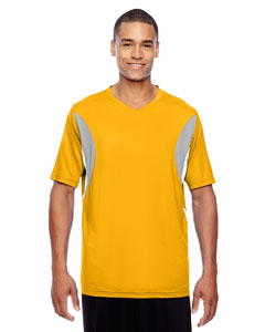 Sp Athletic Gold Men's Short-Sleeve Athletic V-Neck All Sport Jersey