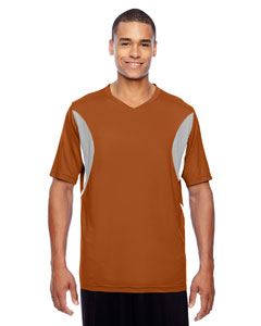 Sp Burnt Orange Men's Short-Sleeve Athletic V-Neck All Sport Jersey