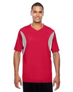 Sport Red Men's Short-Sleeve Athletic V-Neck All Sport Jersey