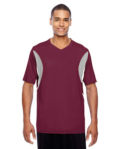 Sport Maroon Men's Short-Sleeve Athletic V-Neck All Sport Jersey