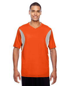 Sport Orange Men's Short-Sleeve Athletic V-Neck All Sport Jersey