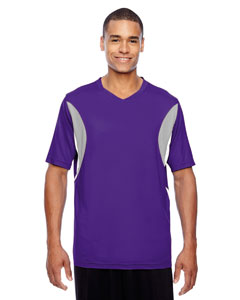 Sport Purple Men's Short-Sleeve Athletic V-Neck All Sport Jersey