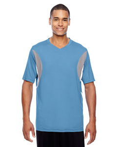Sport Light Blue Men's Short-Sleeve Athletic V-Neck All Sport Jersey