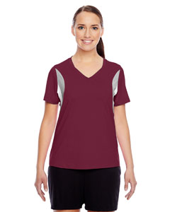 Sport Maroon Ladies' Short-Sleeve V-Neck All Sport Jersey
