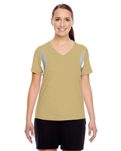 Sport Vegas Gold Ladies' Short-Sleeve V-Neck All Sport Jersey