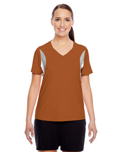 Sp Burnt Orange Ladies' Short-Sleeve V-Neck All Sport Jersey